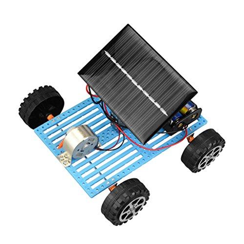 Magideal Batería Solar Coche Híbrido Batería Juguetes de Ciencia para Niños DIY Manual