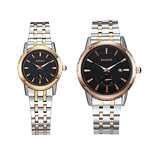 HongBoom Luxury Stainless Steel Band Wrist Watch Men Women Casual Analogue Quartz Couples Wristwatch 30m