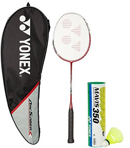Yonex Arcsaber 200 & Mavis 350 Combo (Arcsaber 200 Taufic Hidayat Special Edition Badminton Racquet + Mavis 350 Pack of 6 Shuttlecock)  available at amazon for Rs.3772