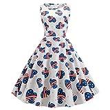 style_dress Robe ImpriméE sans Manches Vintage pour Femme, Robe Longue Ete Grande...