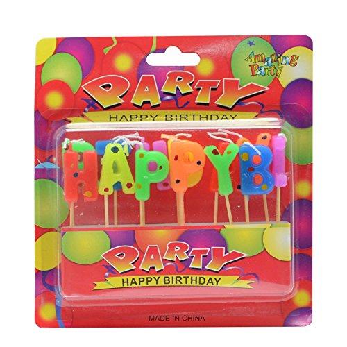 Gifts 4 All Occasions Limited SHATCHI-1081 RGRP - Velas de cumpleaños para niños, diseño con texto