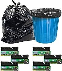 Epido Sahil Tie-string Plastic Biodegradable Garbage Bag, Large (Black, Sahil_GB_24x32_Qty-6) - Pack of 6 / 90 Pieces