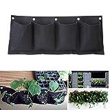 LnLyin 4 Taschen Pflanzenwand Pflanzen Wand Pflanztasche Blumenkasten Balkonkasten