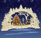 Schwibbogen, Waldhaus mit Kindern, Lichterbogen, Weihnachten, 3D mit LED