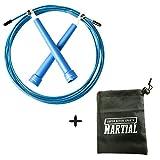 Springseil Speed - Perfekt Für Crossfit, Double Unders, MMA, Training, Fitness Workout, Freeletics, Rope Skipping, Box (Blau)