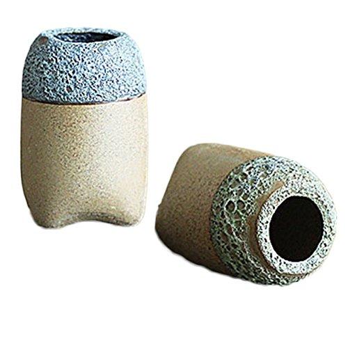 lumentöpfe Keramik Farben zufällig Hausgemachte Topfpflanzen Kreative Mini-Blumentöpfe Pflanzen, pflanzliche 8* 3.5cm ()