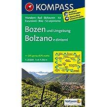 Bozen und Umgebung - Bolzano e dintorni: Wanderkarte mit Radtouren und Skitouren. GPS-genau. 1:25000 (KOMPASS-Wanderkarten, Band 154)