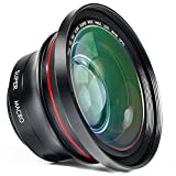 Camcorder Lens 2 in 1 Full HD 72mm Professional 0.39X Super Wide Angle Lens with