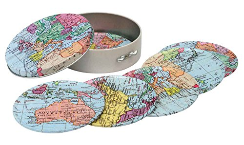 Map Table World Mat (World Traveller 6 Tin Coasters)