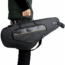 Tocoss(TM) 600D resistente al agua Funda de tela Oxford Mochila de hombro ajustable correas de bolsillo de 5 mm de algod¨®n acolchado para el Alto del saxof¨®n del saxof¨®n