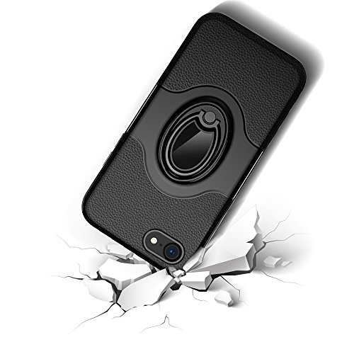 """iPhone 7/iPhone 8 Ring Stand Coque, SHANGRUN TPU Gel Silicone Métal Rotation Intégrée Bague de Serrage Support Case Coque avec Béquille Housse Étui pour iPhone 7/iPhone 8 4.7"""" Vert Rose Or"""