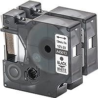 2x Cartucho para impresión de etiquetas compatible con Dymo 45013 D1 en negro sobre blanco 12 mm x 7 m para la LabelManager LabelPoint LabelWriter por ejemplo, para DYMO LabelPOINT & LabelManager LM100 / LM120P / LM150 / LM160 / LMPC2 / LM200 / LM210D / LM220P / LM260 / LM280 / LM300 / LM350 / LM400 / LM260P / LM350D / LM360D / LM420P / LM450 / LP350 / LP100 / LP150 / LP200 / LP250 / LP300 / PC / PC2 / PnP / PnP WiFi / LW400 / LW450 Duo / Pocket 1000 / 1000Plus / 2000 / 3500 / 5000 / 5500
