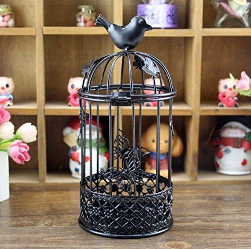 Chandelier cage,Ornements de fer Décorations de noël Activités créatives Ornements de jardin à la maison Creux-B 4x9inch