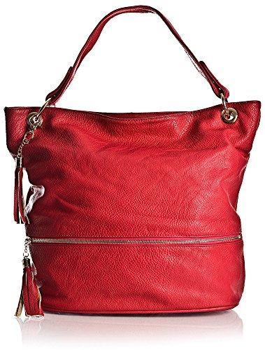 Big Handbag Shop - Borse a spalla donna Viola (Lilla)