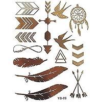 ღ Ford Mondeo Flash tatuaje temporal cuerpo pegatinas calcomanías brazaletes de Metal oro joyería tatuaje etiqueta chapa