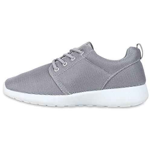 Damen Sportschuhe | Übergrößen | Trendfarben Runners | Sneakers Laufschuhe | Fitness Prints Hellgrau