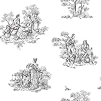 Bianco e nero, Carta da parati Rasch 204209 (Carta Da Parati Nero Bianco Toile Wallpaper)