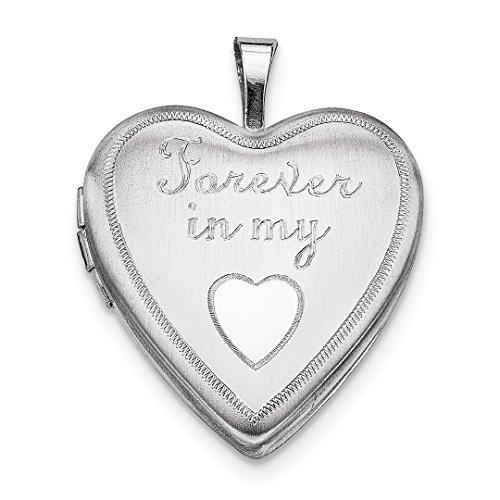 Für Herz In Immer Meinem Medaillon (IceCarats Designer Schmuck Sterling Silber 20mm immer in meinem Herzen Medaillon)