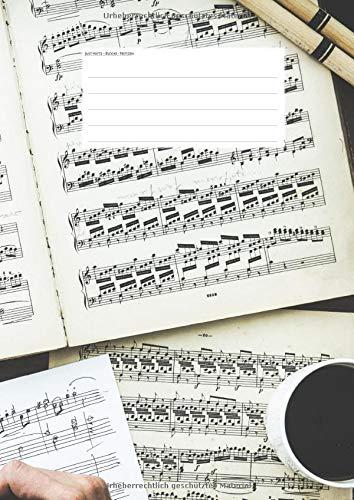 Hefte - Blöcke - Notizen: Schlagzeug Notenheft, 50 Seiten, 12 Systeme, DIN A4