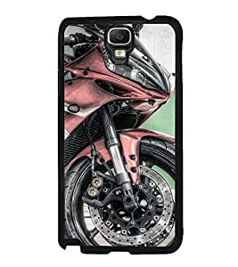 Fuson Premium 2D Back Case Cover Stylish bike With Purple Background Degined For Samsung Galaxy Note 3 Neo N7505