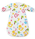 Fairy Baby langarm kleinkind schlafsack mit ärmeln baumwolle thermo baby Schlafsäcke 80 cm, Affe, ca. 3,5 Tog