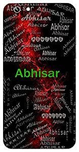 Abhisar (Companion) Name & Sign Printed All over customize & Personalized!! Protective back cover for your Smart Phone : Vivo Xshot