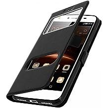 CEKA® Samsung Galaxy A3(2016) Coque Étui - Magnétique View avec Fenêtre Etui Cuir Coque housse et Stand pour Samsung Galaxy A3(2016) - NOIR