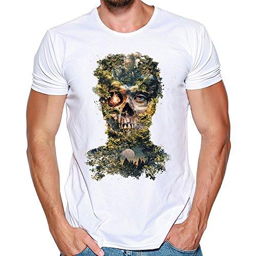reputable site f8819 c5e8f UJUNAOR Männer Plus Size Gedruckt Tees Shirt Halloween Party Kurzarm  Frauen-Halloween Kürbis T Geist