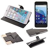 K-S-Trade Schutz Hülle für Archos Access 55 3G Schutzhülle Flip Cover Handy Wallet Case Slim Handyhülle bookstyle schwarz