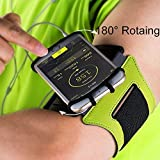 Image of Sports Running Armband For 4 6 Cell Phone 180°rotatable With Key Holder Iphone Armband Adjustable Workout Band Phone Holder For Running Jogging Exercise Workout Hiking Biking green