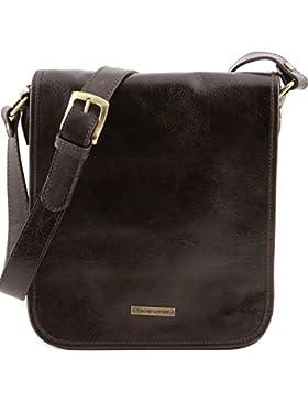 Tuscany Leather - TL Messenger - Umhängetasche aus Leder mit zwei Fächer - TL141255