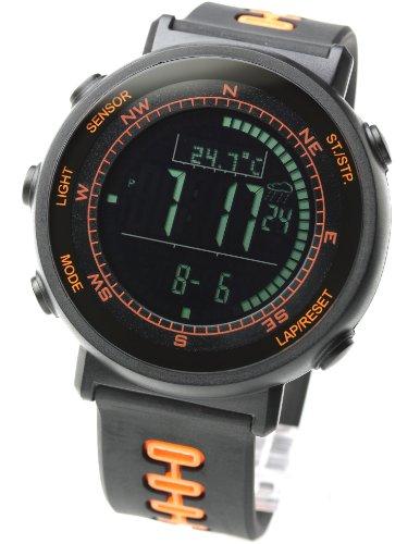 [Lad Weather] Sensor de Swiss Running Cronógrafo Relojes Deportes al aire libre Digital brújula altímetro pronóstico escalada senderismo barómetro termómetro Surf