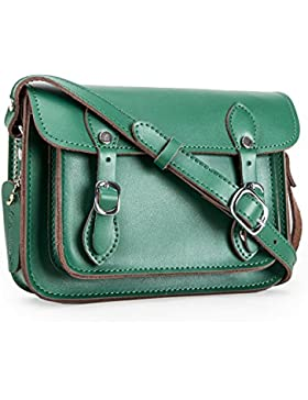 Yasmin Bags, Umhängetasche, echtes Leder, mit kostenlosem Schlüsselanhänger mit Einkaufswagenchip, Design-ring!