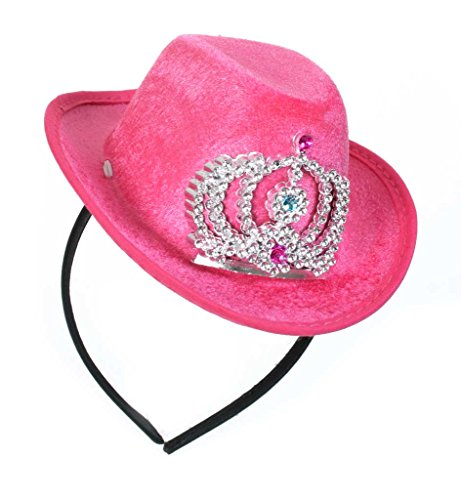 FASCHING 57021 Haarreif Cowboy Cowgirl Mini-Hut rosa NEU/OVP (Rosa Mini Cowboy Hut)