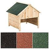 CLP Garage en bois pour tondeuse, toit de protection, abri pour robot de jardin vert