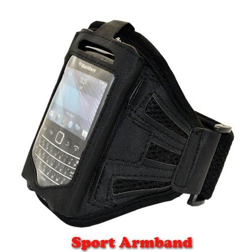 Gym Sport Jogging Armband Tasche schwarz mit Gurt für LG Optimus L3 E400 Halter