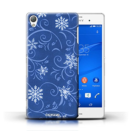 Kobalt® Imprimé Etui / Coque pour Sony Xperia Z3 / Vert conception / Série Motif flocon de neige Bleu