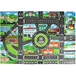 Kids Toys City Parking Lot Roadmap Map DIY Car Model Toys Climbing Mats English Version City Parking Map Rich Roads and Buildings City Map