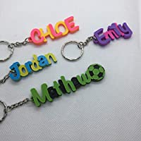 Multi-colour Personalised Keyring, 3D printed keychain, gifts under 5, keychain favours, unicorn keychain