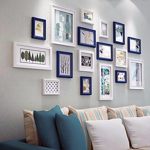 WUXK Foto Wand Dekor modernes, minimalistisches Wohnzimmer Schlafzimmer Bilderrahmen wand Wandmalerei Ideen kombiniert Bilderrahmen Wand Foto Wand, D