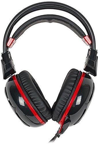 A4Tech Bloody G300 Stereofonico Padiglione auricolare Nero, Rosso cuffia e auricolare