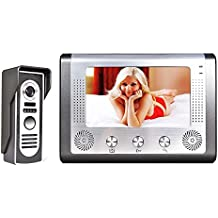 """7"""" TFT LCD Video Portero Interfono Intercom,videoportero inalambrico Kit( 1 Monitor de 7"""", 1 Cámara,Cámara de Vigilancia, Desbloqueo Remoto, Visión Nocturna)"""