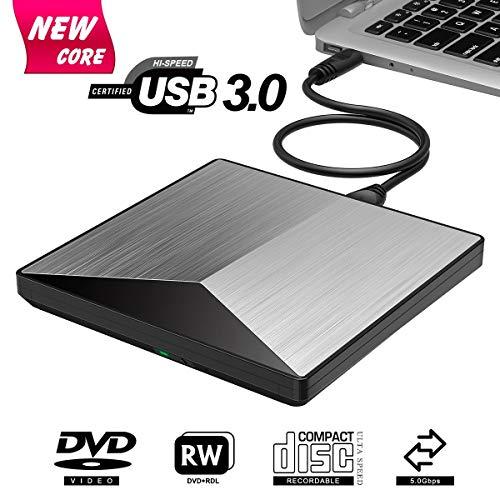 LHXHL 3.0 CD Brenner Externes DVD-Laufwerk 100% Laptop Chip Unterstützung Windows 10/8/7 / XP/Mac OS