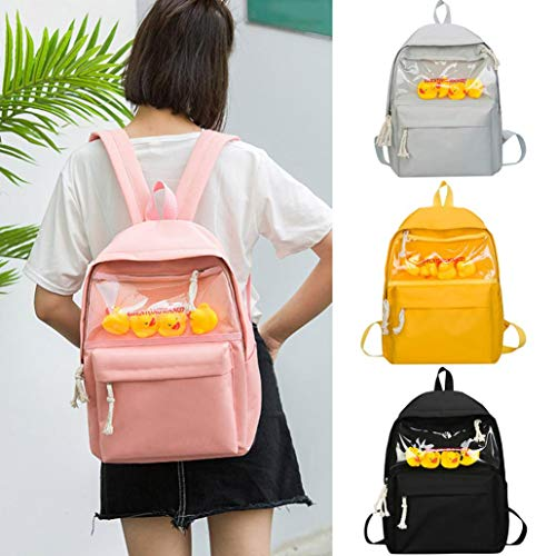 Child Baby Girls Boys Kids Duck Animal Student Backpack Toddler School Bag Solid color Student Playful School Chest Bag Sling Bag Family Hiking Travel Camping Stylish simplicity