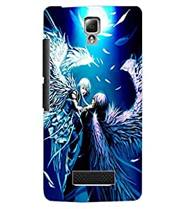 ColourCraft Angels Couple Design Back Case Cover for LENOVO A2010