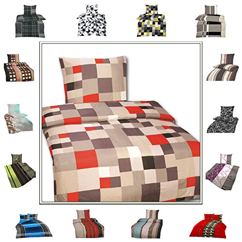 TOP Bettwäsche Garnitur in vielen Qualitäten und Größen mit RV in über 30 verschiedenen Mustern (Boxer1623, 135x200cm Microfaser 2tlg)