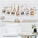 Cinlla Stickers Muraux Voyage Tout Le Chemin Amovible Murale Stickers Vinyle pour...