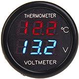 BlueBeach 2in1 Numérique LED Voltmètre Tester + Thermomètre
