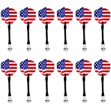 Phenovo 12 Pieces American Niational Flag Magnetic Darts For Magnetic Dart Board Dart Accessories