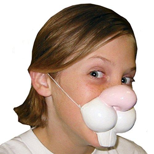 Weißen Kostüm Fake Zähne (Rubie 's Offizielles Kaninchen Nase, Erwachsenen-Kostüm–One)